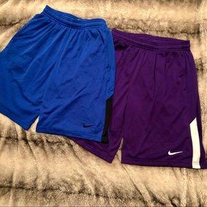 x2 Mens Nike Dri fit athletic shorts